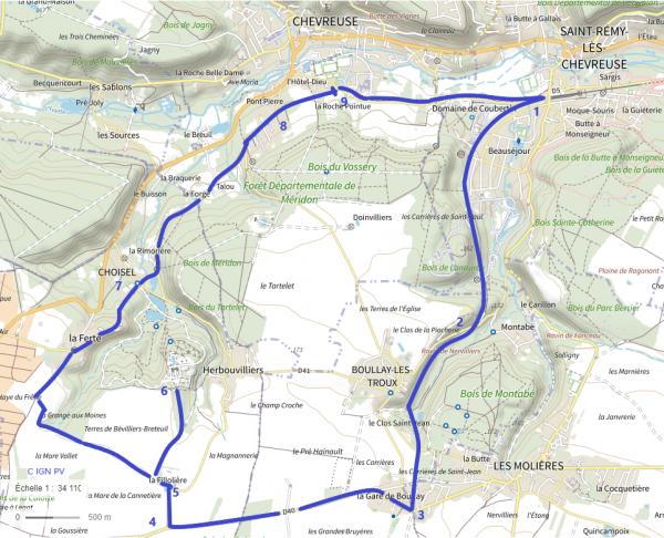 En vélo, de St-Rémy à Breteuil et Chevreuse